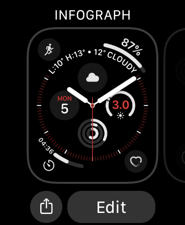تحرير وجه Apple Watch
