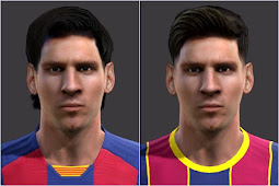 Lionel Messi New Face - PES 2013