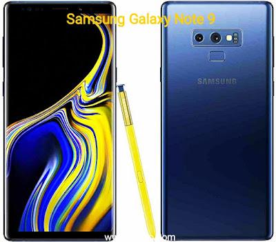 مواصفات هاتف Samsung Galaxy note 9