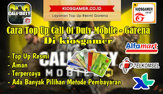 Cara Top Up CP Call Of Duty Mobile Garena Di KiosGamer