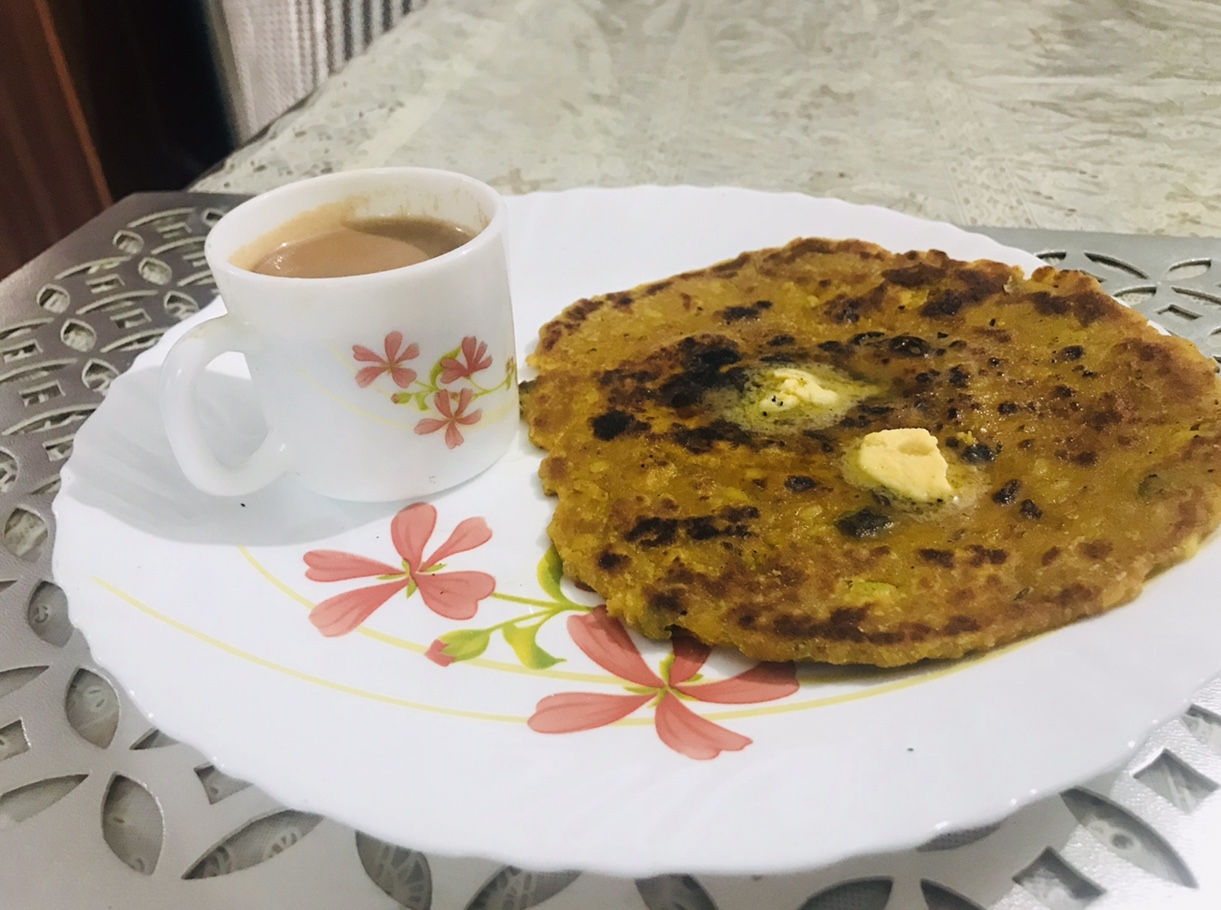 moong masoor dal prat with masala tea