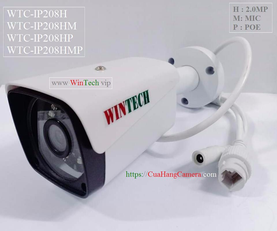 Camera IP WTC-IP208H độ phân giải 2.0MP