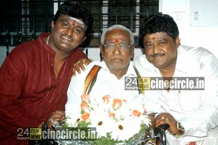 Komal with his father and brother