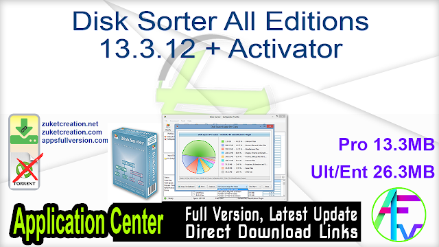 Disk Sorter All Editions 13.3.12 + Activator
