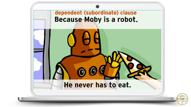Introducing dependent clauses and independent clauses with videos is an engaging way to start a lesson on clauses.