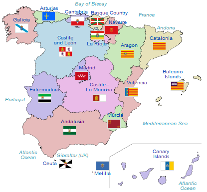 Spanish Autonomous Communities Interactive Map