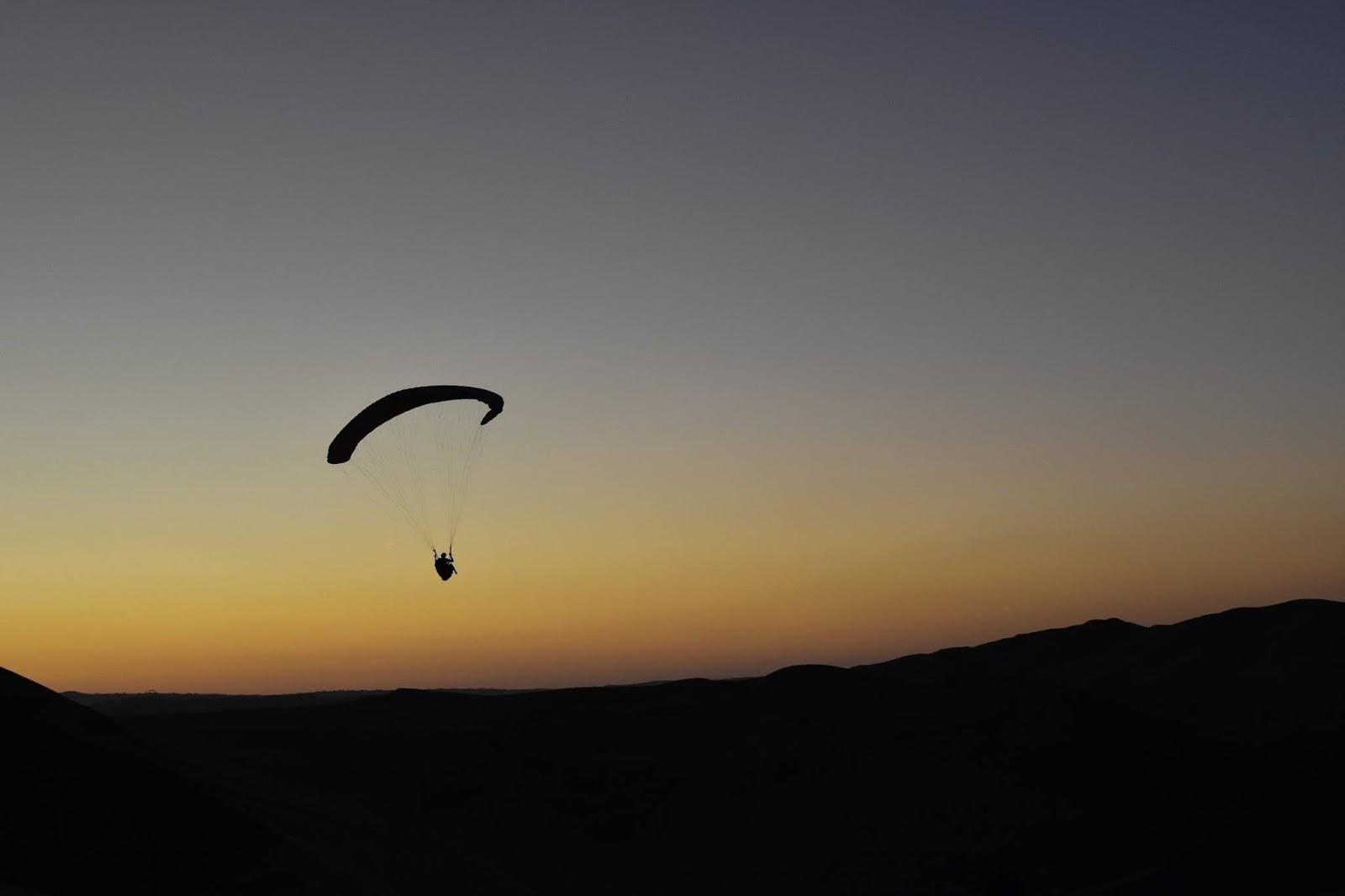 Parachuting In Huacachina, Peru