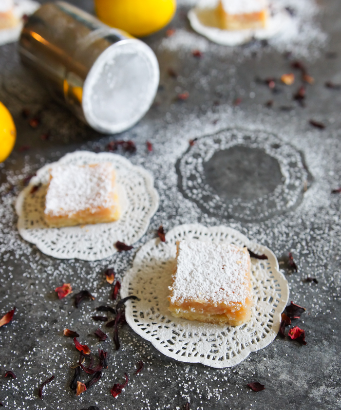 Hibiscus Lemon Squares ♥ bakeat350.net