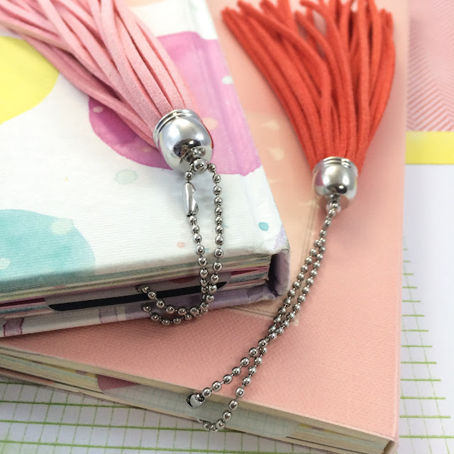 A Bookmark for My Planner, Suede Tassel with Shrink Plastic