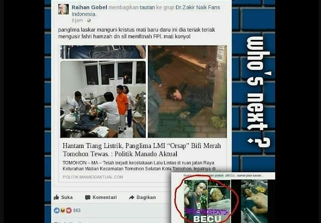 Daftar Korban Mubahalah HRS, Banyak Ahoker Tewas Mengenaskan!