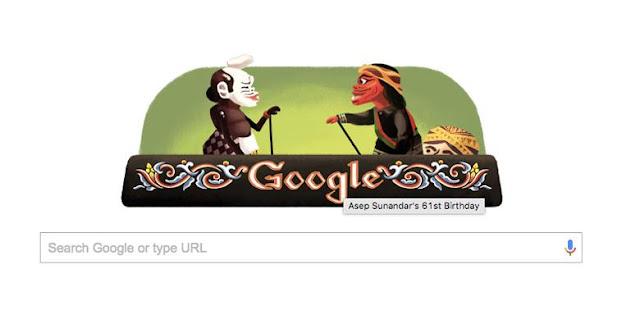 Ulang Tahun Asep Sunandar Sunarya, Google Doodle Tamplkan Cepot dan Semar