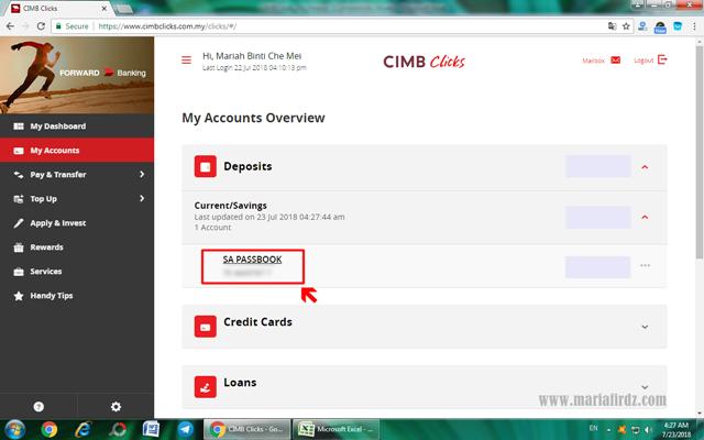 Cara Dapatkan Bank Statement Melalui CIMBClicks