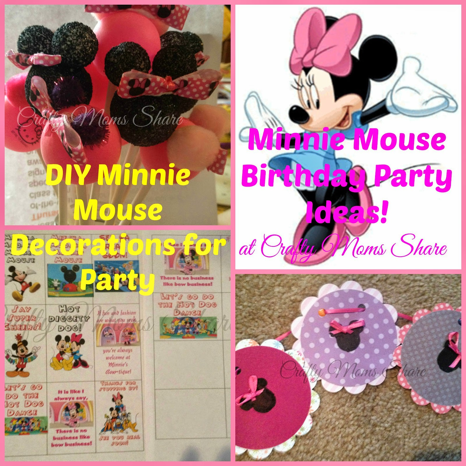 Crafty Moms Share Minnie Mouse Birthday PartyDIY Decorations