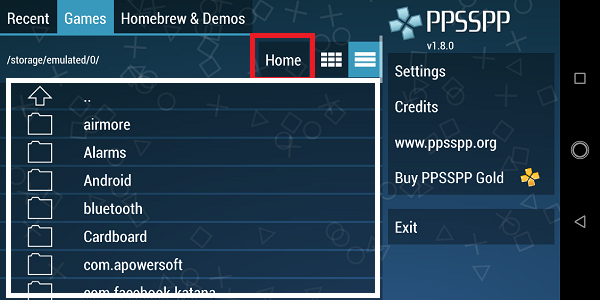 cara install file .iso di ppsspp