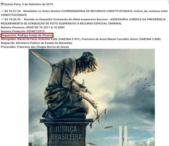 DECISÃO DO REPRESENTANTE MAIOR DO JUDICIÁRIO DO MA DEIXA MARGEM PARA SUSPEITAS