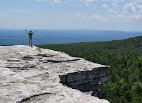 Hiker on Minnewaska Ridge