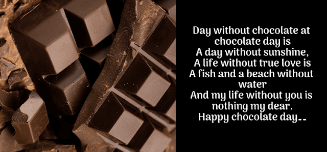 Life without Chocolate is a Day without Sunshine