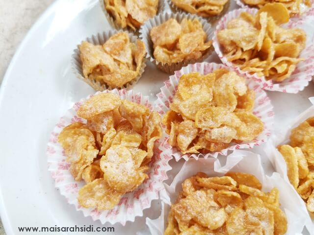 Resepi Honey Butter Cornflakes