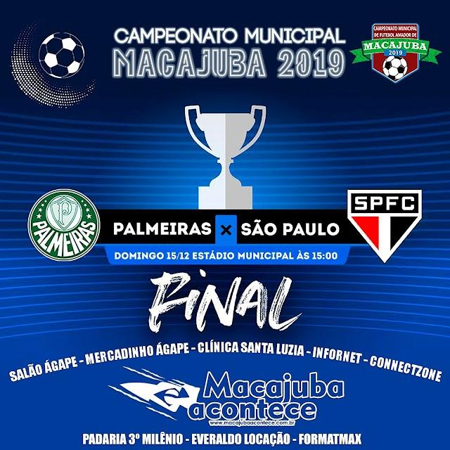 Final de semana com decisão do Campeonato Municipal de Macajuba 2019