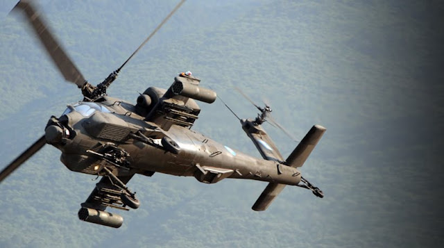 Ελικόπτερο Απάτσι έπεσε ανατολικά της Χαλκιδικής