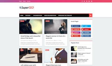 Super SEO Blogger Template - SEO Theme For Organic Traffic