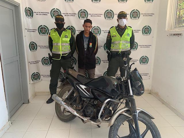 Entre Distracción y Fonseca iba en una moto robada en Santa Marta