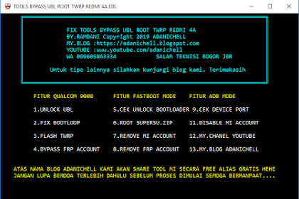Cara Pasang Twrp Dan Root Redmi 4a Bypass Ubl Tested Free