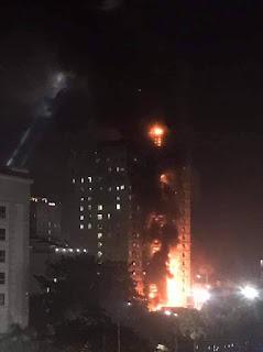 Kebakaran Bangunan Kasino di Kamboja