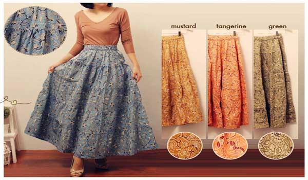 Model rok panjang batik