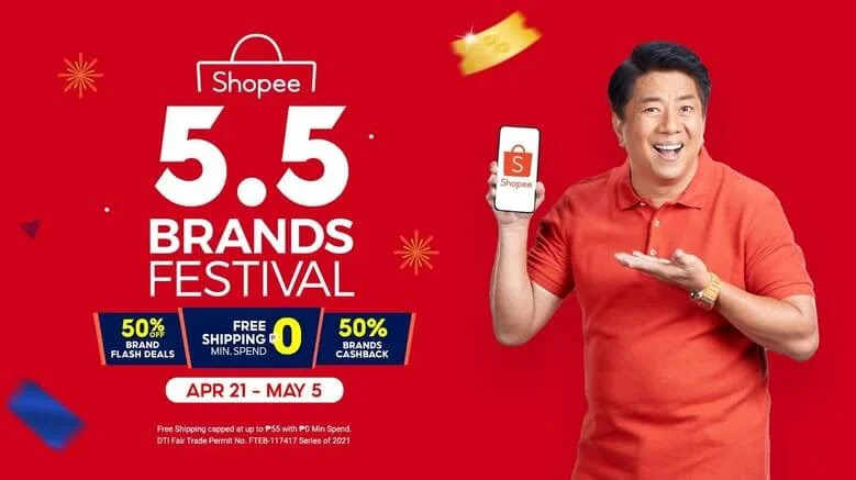 Shopee 5.5 Brands Festival offers exclusive deals and discounts from well-known brands