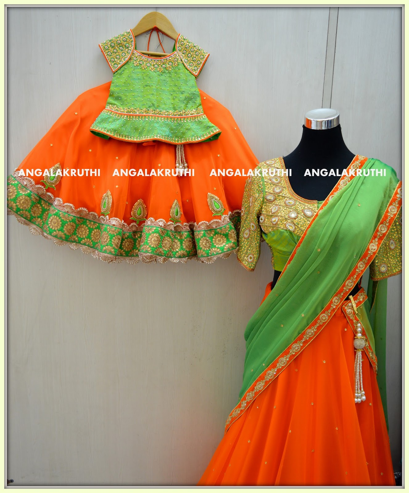 Mom n Me designs by Angalakruthi La s and kids designer boutique