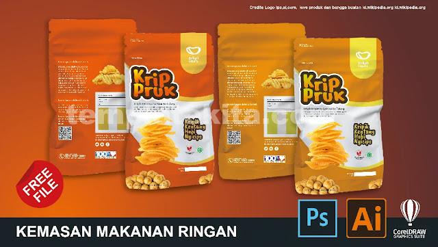 Download Contoh Desain Kemasan Makanan Ringan CoreldDraw Dan Photoshop Gratis