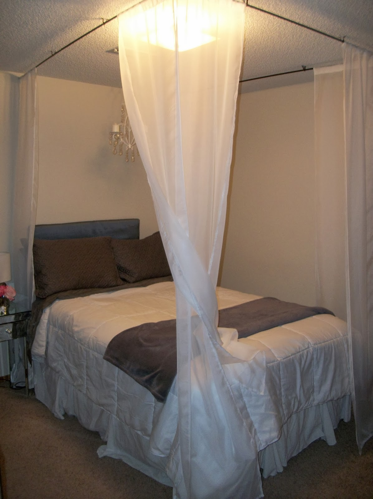 Fifth hang your curtains and enjoy your beautiful faux - Pictures of canopy beds ...