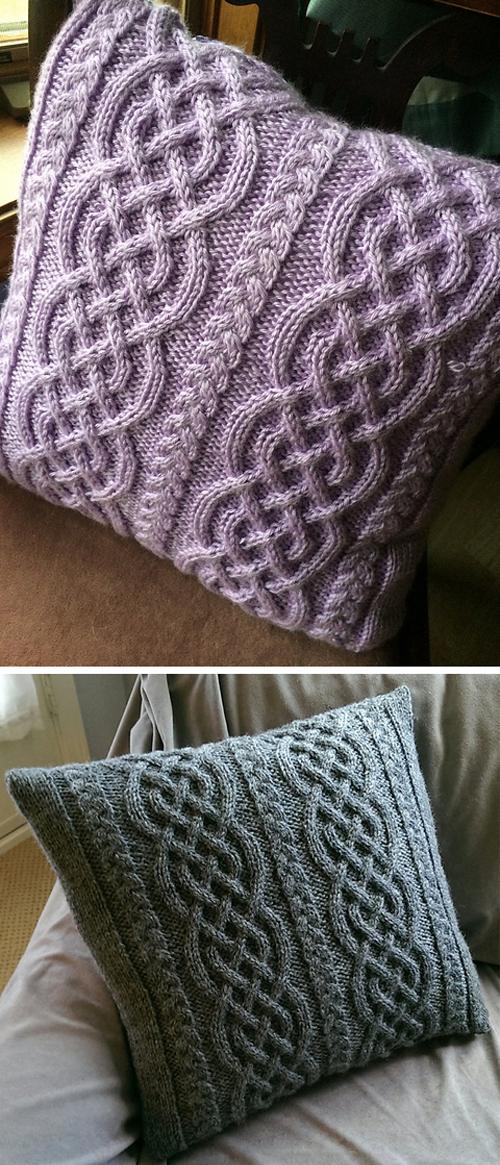 Celtic Knit Aran Pillow - Free Pattern