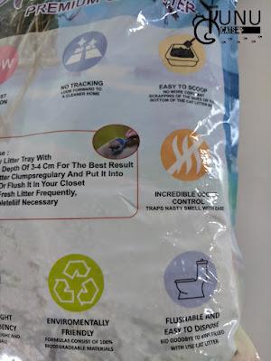 Kemasan Pasir Gumpal Kucing New Aromatic