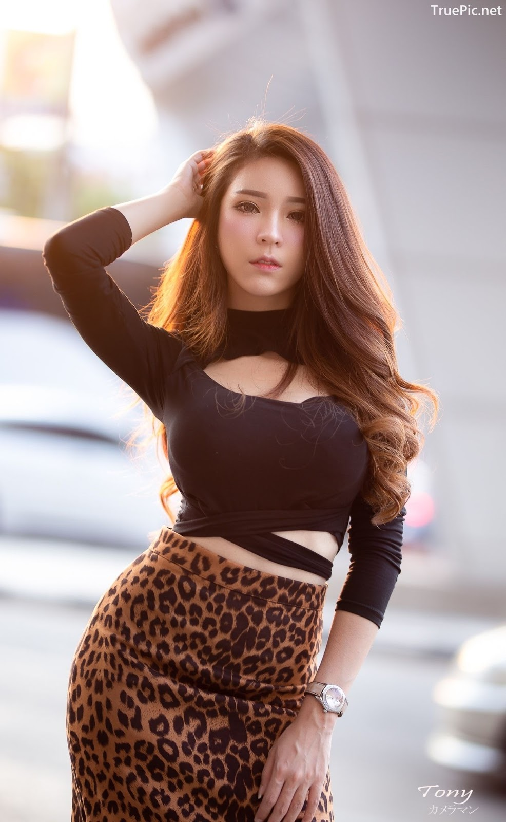 Image-Thailand-Hot-Model-Janet-Kanokwan-Saesim-Sexy-In-Black-And-Leopard-Fabric-TruePic.net- Picture-5