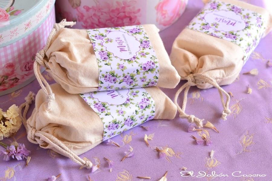 Detalles para invitados saquitos con jabones naturales