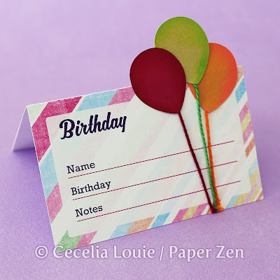 Memorydex Box Birthday Index Card SVG