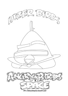 Lazer Birds Coloring pages