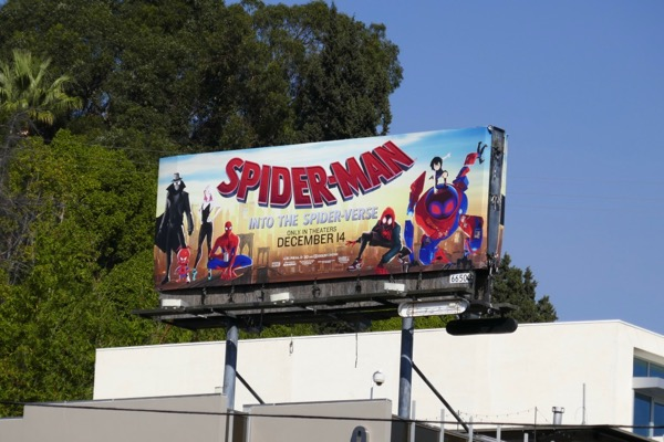 Spider-man Into the Spider-verse billboard