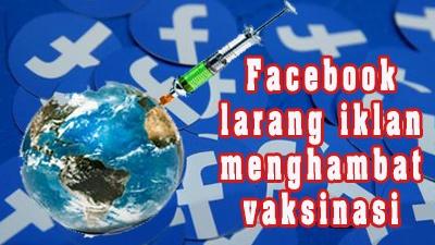 Facebook larang iklan menghambat vaksinasi