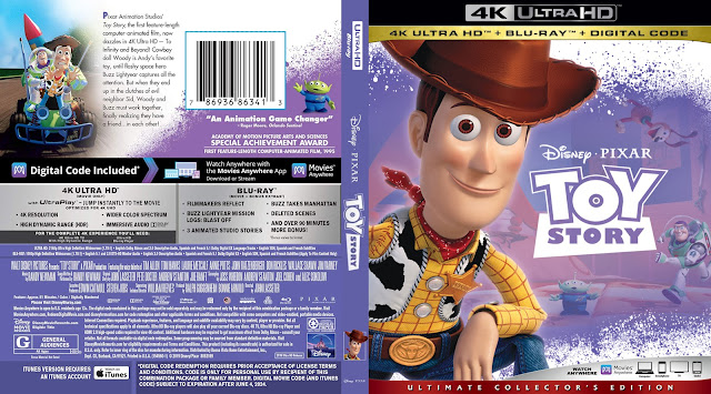 Toy Story 4k UHD Bluray Cover