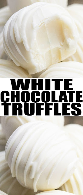 WHITE CHOCOLATE TRUFFLES RECIPE #chocolate desserts #dessert easy