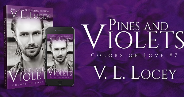 Pines and Violets. Colors of Love #7. V.L. Locey.