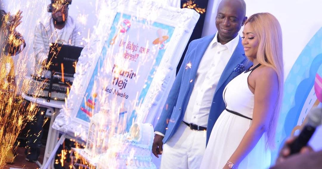 Actress Regina Daniels And Hubby Ned Nwoko Christen Their Baby Boy...