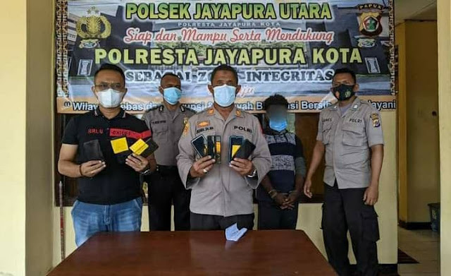 Curi 7 Unit HP, Seorang Pria Diamankan Polsek Jayapura Utara