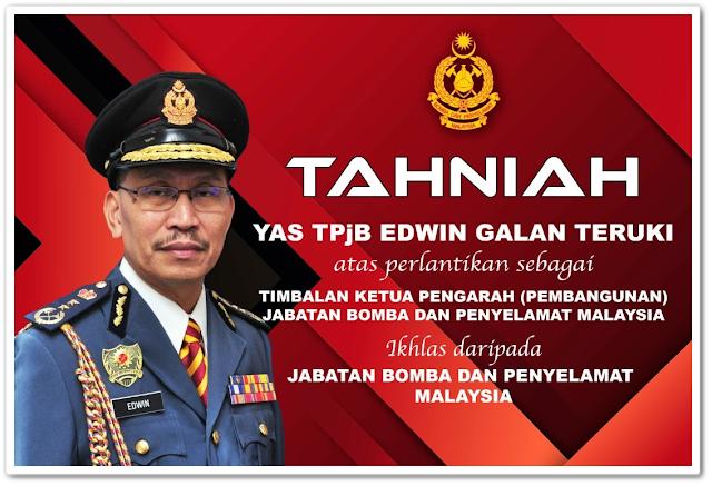 Pelantikan  Timbalan Ketua Pengarah (Pembangunan), Jabatan Bomba dan Penyelamat Malaysia