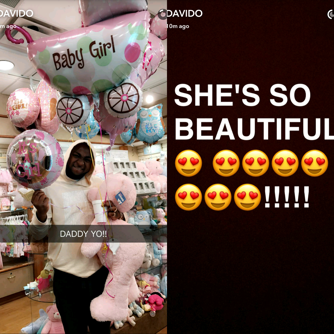 She's so beautiful!!! - Davido gushes about his new born daughter, Hailey Veronica Adeleke