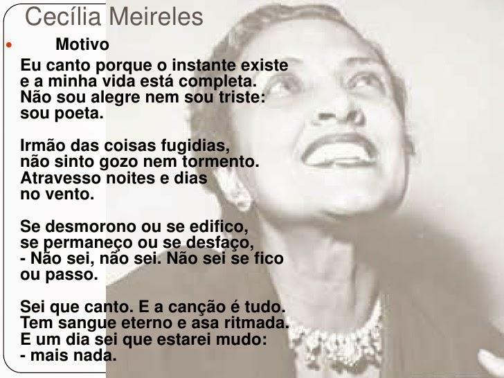 Exibindo Motivo- Cecília Meireles