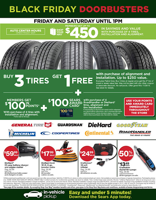 Sears Black Friday 2016 tools ad